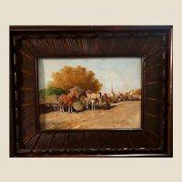 Hungarian School - Original Signed Oil Genre Scene - Nicely Framed Market Scene