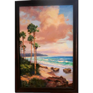 HALL OF FAME ARTIST James F. Hutchinson (American b. 1932) - Museum Quality Signed Oil On Canvas With Incredible Depth Of Field