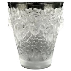 "LALIQUE  (France) - Exquisite  Clear and Frosted Numbered Vase ""Silenes"" With Original Box and Lalique Card"