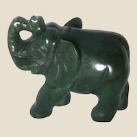 JADE Hand-Carved Miniature Elephant