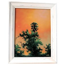 """ORIGINAL HALL OF FAME HIGHWAYMEN -  Johnny Daniels ( American 1952 - 2009) Signed Original Oil Painting """"The Glow Of Summer"""""""