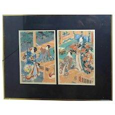 Utagawa Toyokuni III (Kunisada) - OBAN Ukiyo E -  Nishi Ki - E Kabuki - Original Woodblock Print