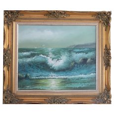 """""""The Angry Sea"""" - Signed Original Oil Painting On Canvas -"""