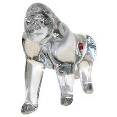 RARE Large Baccarat Loet Vanderveen Crystal Gorilla, From France!