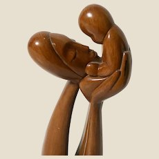 Mother and Baby Tall Impressionistic Figure - 20 inches tall!