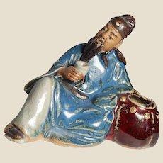 RARE Antique Chinese Mudman Brushwasher