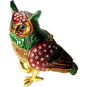 """Jeweled"" Owl Trinket Box"