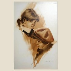 """Childhood"" - Original Signed Oil On Canvas"