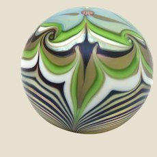 Orient & Flume Studio Art Glass Paperweight, Signed/Dated 1980 Absolutely Exquisite