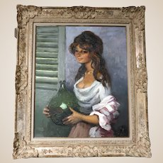 "MARCEL DYF (French 1899 - 1985) Original Signed Oil On Canvas ""Gitane"""