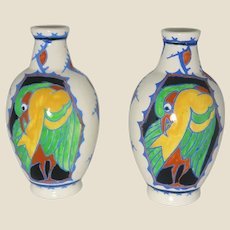 Charles Catteau for BOCH FRERES - Pair of Glazed Earthenware Vases, Circa 1926.