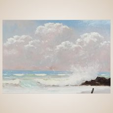 "R. A. McLENDON (American Highwayman b. 1932) - Original Signed Oil ""Perfect Day At The Beach"""