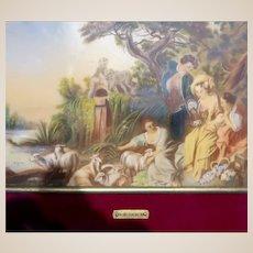 "Italian Enamel On Copper Plaque - ""Le Mid"" - Boucher"