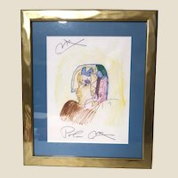"PETER MAX (German/American b. 1937) - Original Signed ""Cleopatra In Profile"""