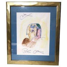 """PETER MAX (German/American b. 1937) - Original Signed """"Cleopatra In Profile"""""""