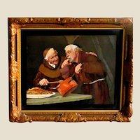 "Pietra Dura (Pietra Dure) - Italian - ""Two Monks Cooking"" - Excellent Find!"