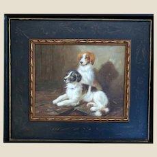 "Vintage Portrait Of Two Dogs ""Devoted Guardians"""