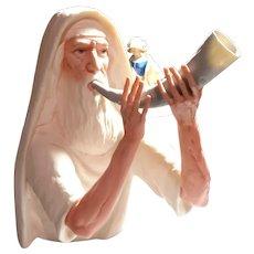 "LASZLO ISPANKY  (Hungarian/American 1919-2010) Limited Edition Moses blowing Shofar ""Rosh Hashana"""