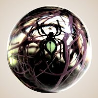 CHRIS BUZZINI - Unique One Of One - Spectacular Art Glass Spider Paperweight -1978 When Chris Was At Bridgeton Studio - From Mr. Buzzini'sPersonal Collection