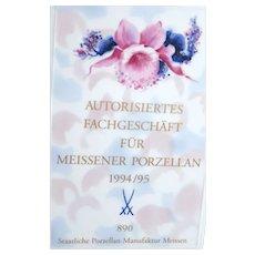 MEISSEN Porcelain (Germany) - Rare Dealer's Sign