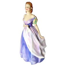 "ROYAL DOULTON - England - Rare Lavender ""Jacqueline"" HN 2000 by Leslie Harridine - Edition Closed in 1951."