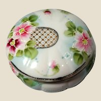 Footed Japanese Dresser Box or Trinket Box, Lovely!