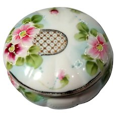 Footed Japanese Dresser Box or Trinket Box, Lovely!