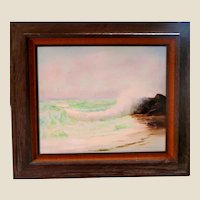 """R. A. McLENDON (American, Florida Highwaymen, b. 1932) - Original Signed Oil On Canvas """"Waves In The Inlet"""""""