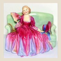 "RARE MINIATURE Royal Doulton ""Sweet And Twenty"" RN 737560 HN1589, Issued Only Between 1933-1949, Designed By Leslie Harridine-"