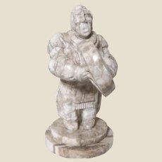 Native American Alabaster Sculpture, Signed.