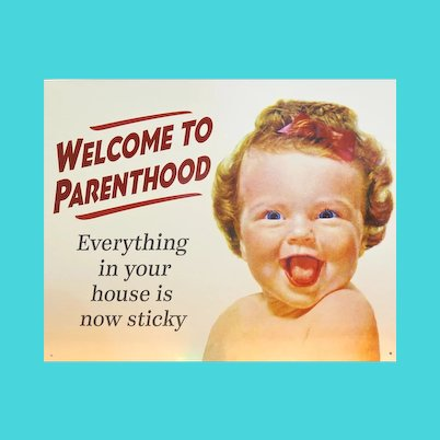 Adorable Humorous Metal Sign - Parents Can Relate!  Vintage Pub Bar Sign
