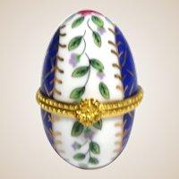 Porcelain Egg Trinket Box For A Ring