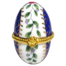 Porcelain Egg Trinket Box For A Ring
