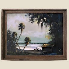 """Florida Highwaymen Second Generation Movement - Tracy Newton (American, b. 1975) -Signed Original Oil on Canvas """"Misty Morning"""""""