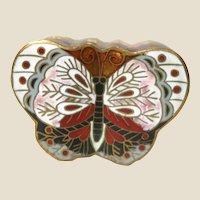 Ckloisonne Butterfly Trinket Box or Ring Box
