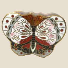 Ckloisonne Butterfly Trinket Box or Ring Box