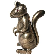 Silver (925) Trinket Box in The Shape Of A Squirrel.
