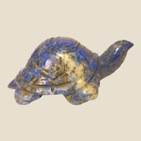 """Well-Carved Miniature Turtle in Sodalite - (believed to """"keep you shielded from negative forces in our imperfect world"""".)"""