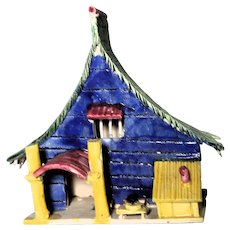 VERY RARE Chinese Mudman Mud House or Hut,  Excellent Condition