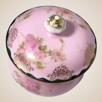 Charming Porcelain Dresser Box or Trinket Box or Jewelry Box