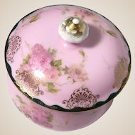 Charming Porcelain Dresser Box or Trinket Box or Jewelry Box