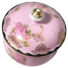 Charming Porcelain Powder Box or Dresser Box or Jewelry Box