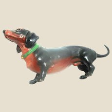 Vienna Bronze Beautifully Detailed Dachshund Dog