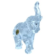 WATERFORD CRYSTAL Large Elephant (7 inches) - Signed, With Original Waterford Label - Closed Edition