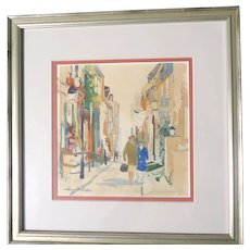 Howard N. Watson (American, b 1929 - ) - Original Signed Watercolor Painting By This Well-Listed Philadelphia Artist