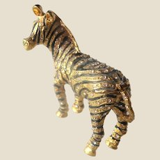 Zebra Trinket Box or Dresser Box Glitters With Faux Jewels