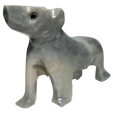 UNUSUAL - Well-Carved Puppy Dog of Opaque Rock Crystal Quartz