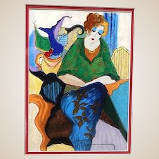 ITZCHAK TARKAY (Israeli, 1935 – 2012) -ONE-OF-A-KIND Original Signed Acrylic Painting On Wood Panel With COA From Artist's Widow