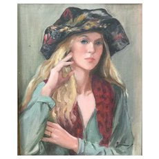Original Signed Portrait,  Oil On Canvas, Nicely Framed