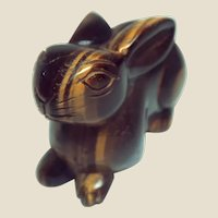 Tiger's Eye Well-Carved Bunny or Rabbit - Tiger's Eye is Believed to Encourage You To Live Boldly and Bravely.